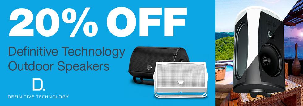 20% Off DefTech Indoor/Outdoor Speak